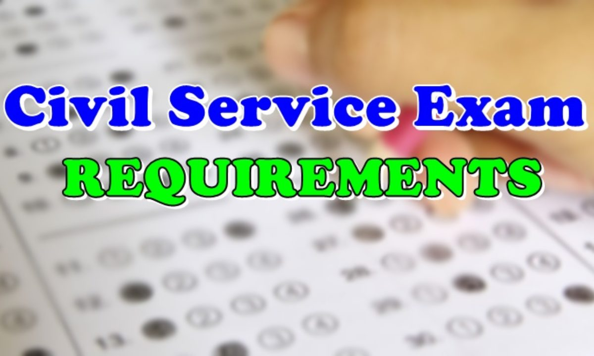 Civil Service Exam Requirements List Of Application Requirements