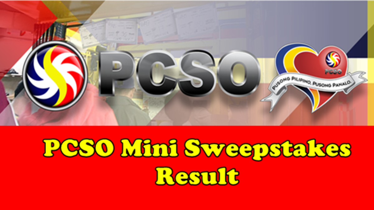 Pcso Mini Sweepstakes Result Special Christmas Draw Dec 23 Winners