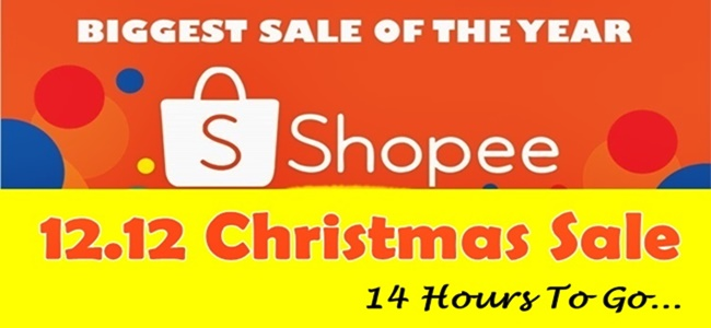 Shopee 12.12 Christmas Sale 14 Hours To Go