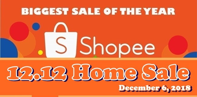 Shopee 12.12 Home Sale December 6 2018