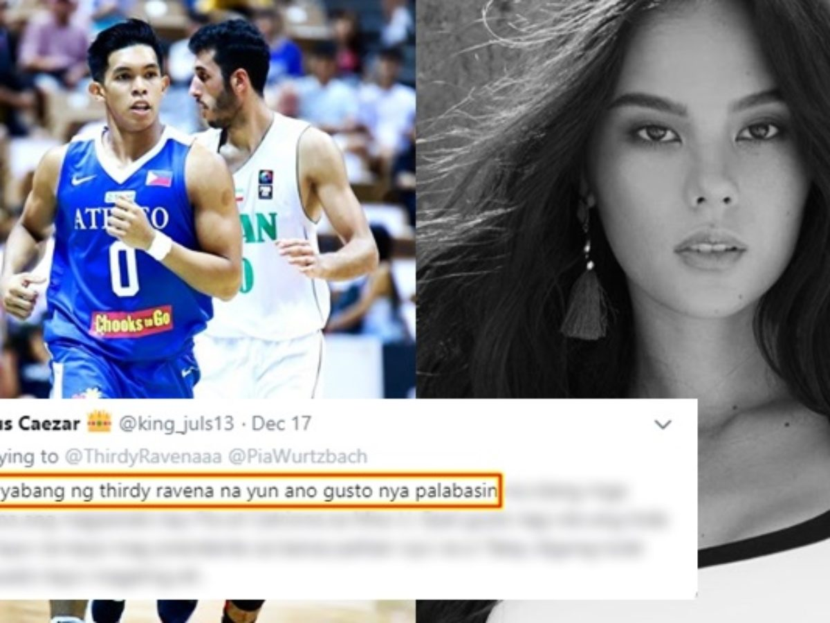 Thirdy Ravena Slammed On Post About Catriona In Miss Universe 2018
