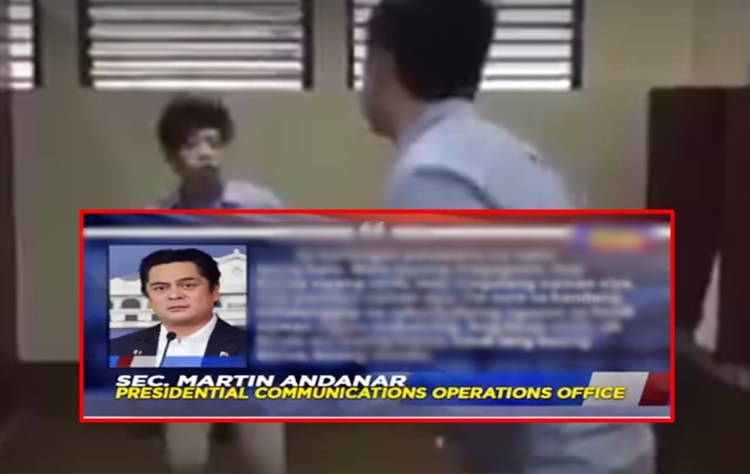 Malacañang statement about Ateneo kid bully and family