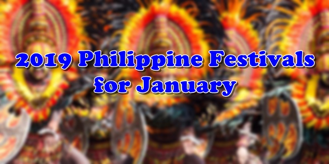 2019 Philippine Festivals for January