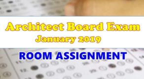 Architect Board Exam January 2019 Room Assignment (FULL-LIST)