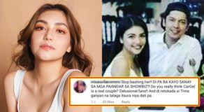 Carlo Aquino Rumored GF Trina Candaza Bashed, Friend Defends Her