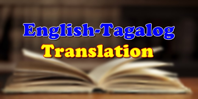 English-Tagalog Translation