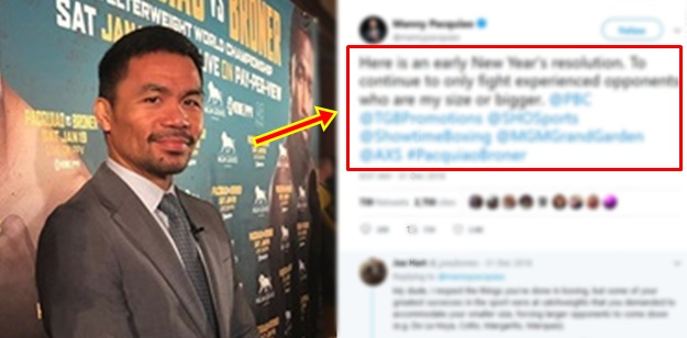 Manny Pacquiao New Year's Resolution