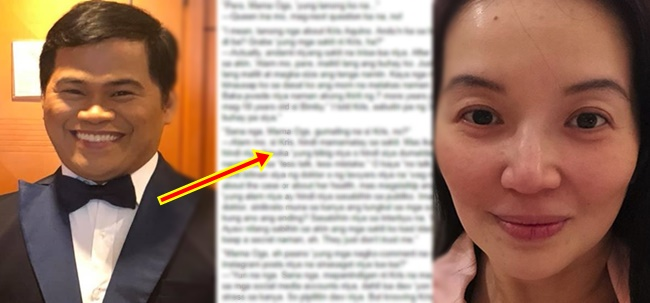 Ogie Diaz, Kris Aquino health condition