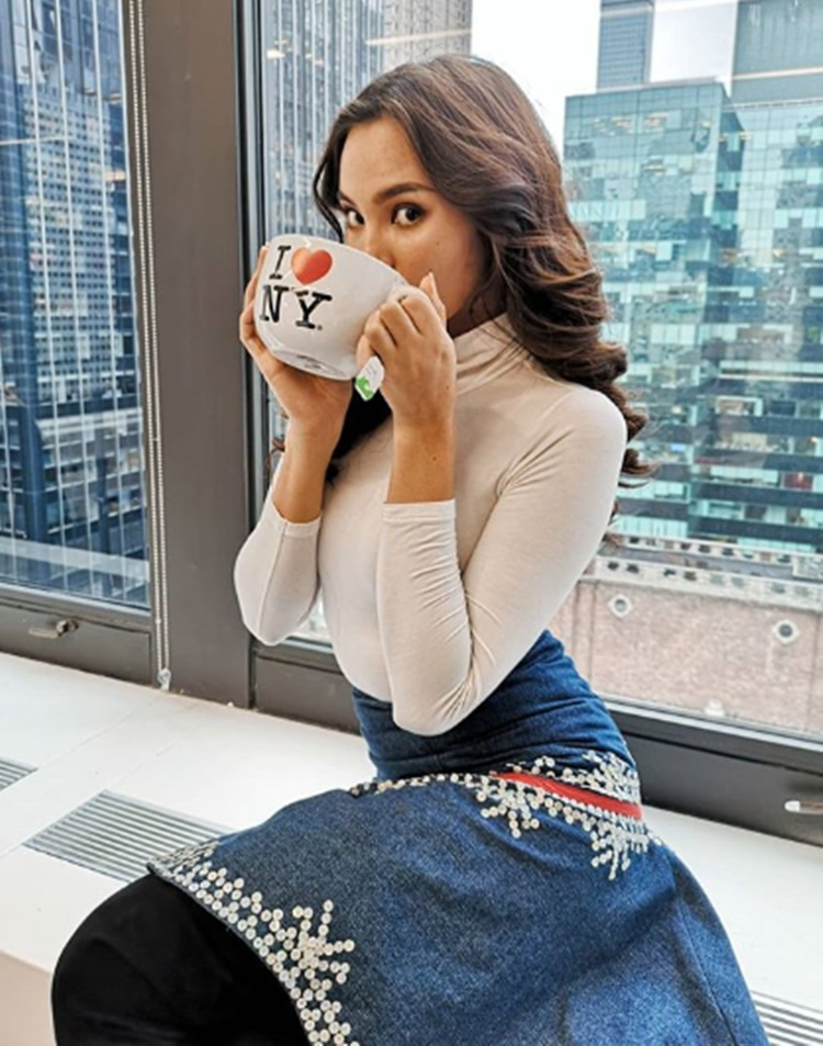 Catriona Gray first photo in New York