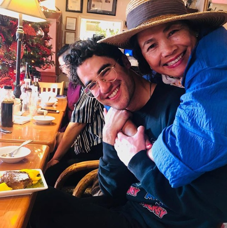 Darren Criss with Pinay mom