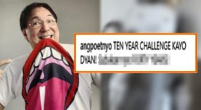"Joey De Leon Has Striking Post About The Trending ""Ten Year Challenge"""