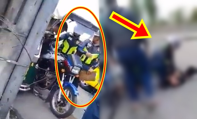police officer on tricycle driver