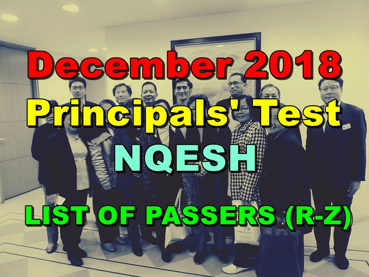 Principals' Test Results