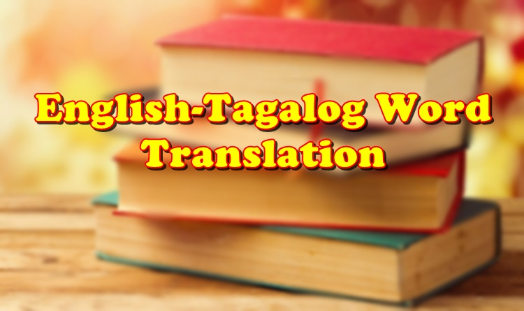 English Tagalog Word Translation