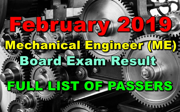 Mechanical Engineer Board Exam Result