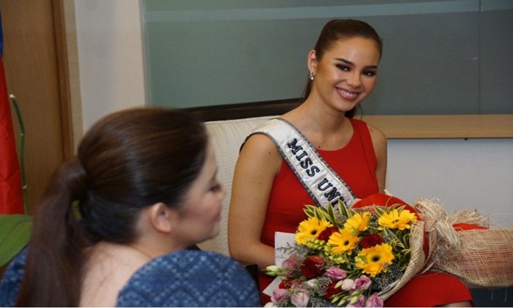 Miss Universe 2018 Catriona Gray on DOT 1