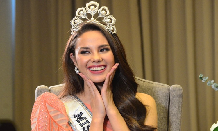 Miss Universe 2018 Catriona Gray reaction