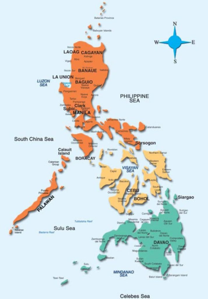 PHILIPPINE MAP | Map Of The Philippines on