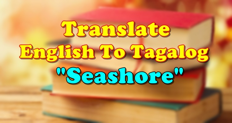 Translate English To Tagalog Seashore