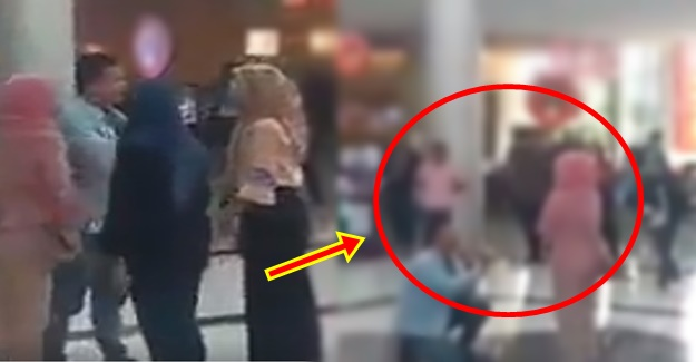 Wife Catches Husband Proposing To His Girlfriend Inside A Mall