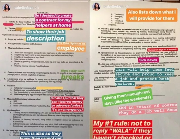 isabelle daza contract
