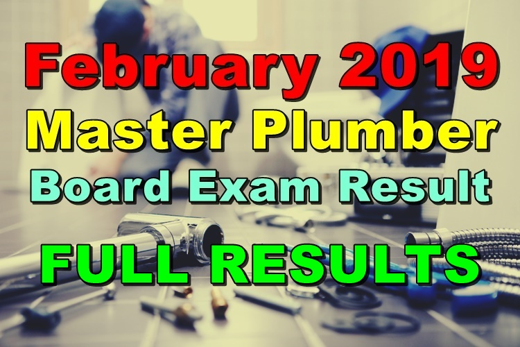 Master Plumber Board Exam Result