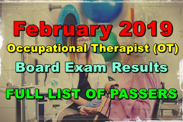 Occupational Therapist Board Exam Results