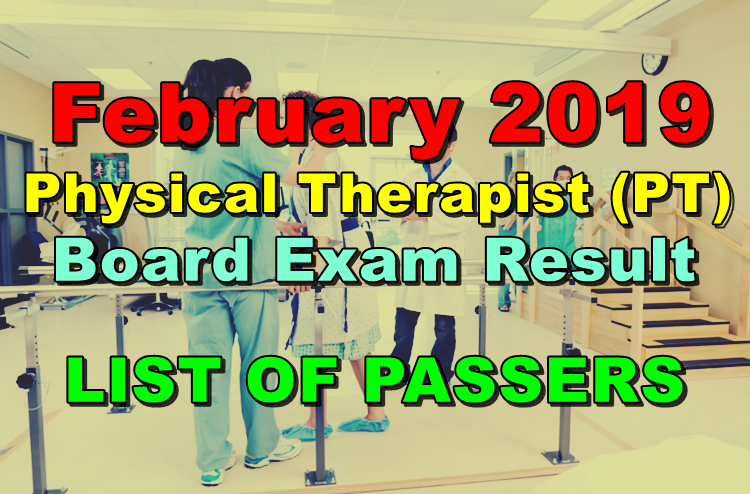 Physical Therapist Board Exam Result