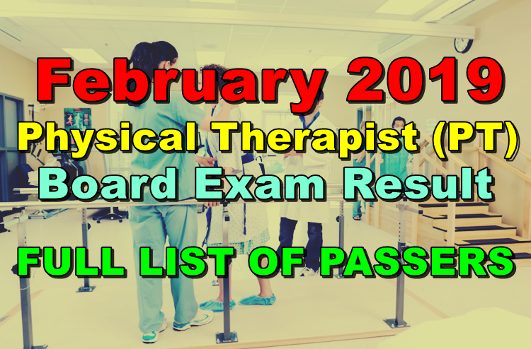 Physical Therapist (PT) Board Exam Result