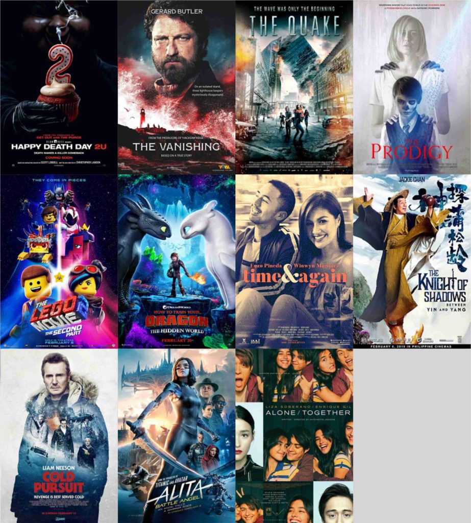 ROBINSONS MOVIEWORLD: List Of Now Showing Movies | February 25