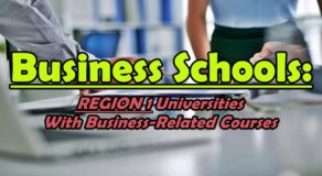 Business Schools: REGION 1 Universities With Business-Related Courses