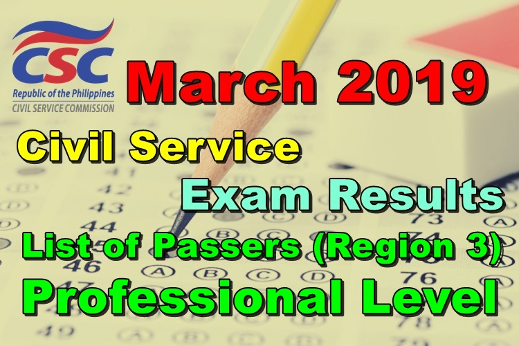 Civil Service Exam Results