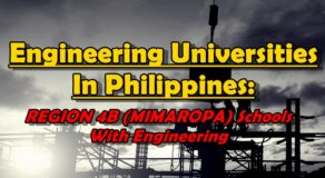 Engineering Universities In Philippines: REGION 4B (MIMAROPA) Schools With Engineering Courses