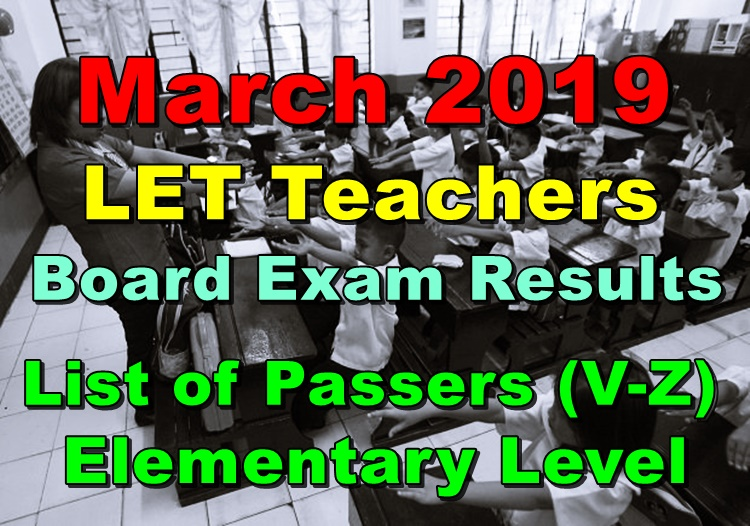 LET Teachers Board Exam Results