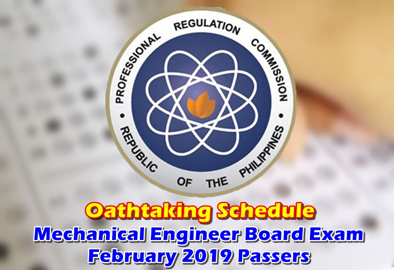 OATHTAKING Mechanical Engineer Board Exam February 2019 Passers