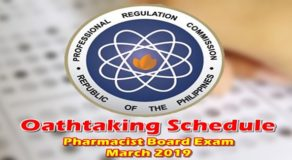 OATHTAKING: Pharmacist Board Exam March 2019 Passers