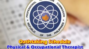 OATHTAKING: Physical & Occupational Therapists Board Exam February 2019 Passers