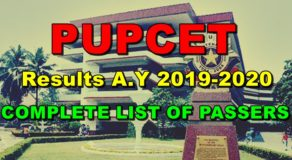 PUPCET Results A.Y 2019-2020 – FULL LIST OF PASSERS