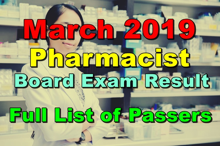 Pharmacist Board Exam Result