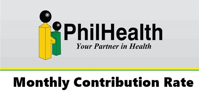 PhilHealth Monthly Contribution Rate