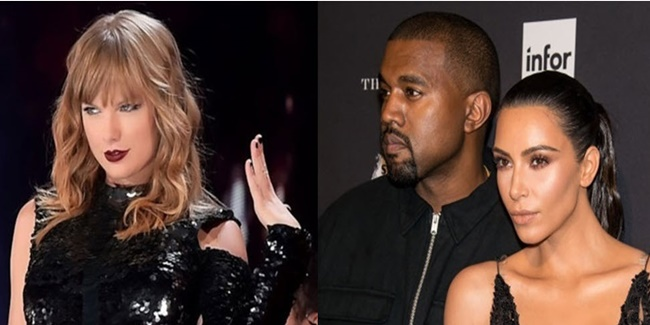 Taylor Swift, kim and Kanye West 0