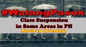 #WalangPasok: Class Suspension In Selected Areas in PH On March 19