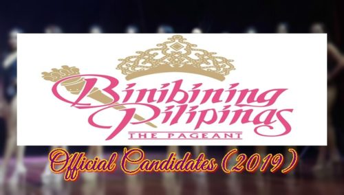 binibining pilipinas official candidates 2019