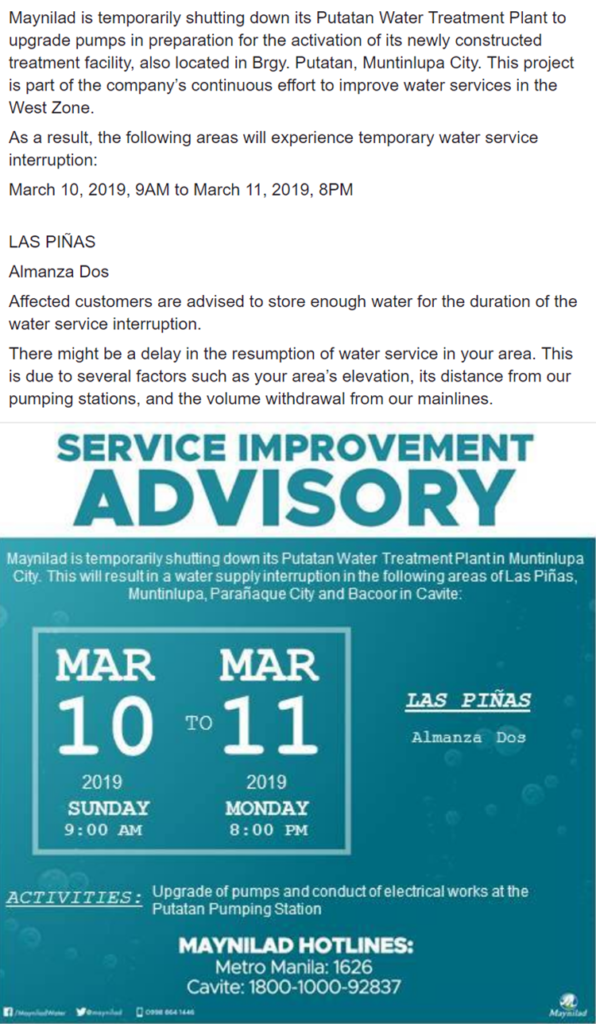 Water  Service Interruption