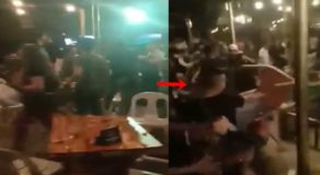 Intense Rumble Inside Restobar in Bacolod City Caught On Camera