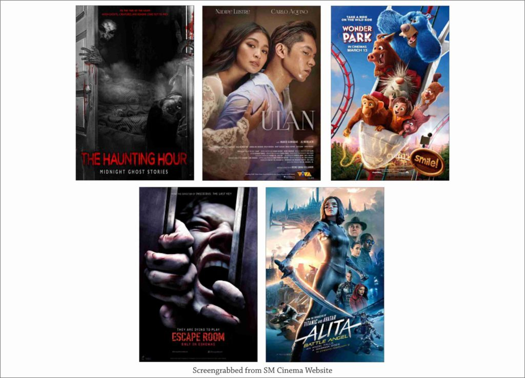 SM Cinema Showing Movies Today March 15, 2019