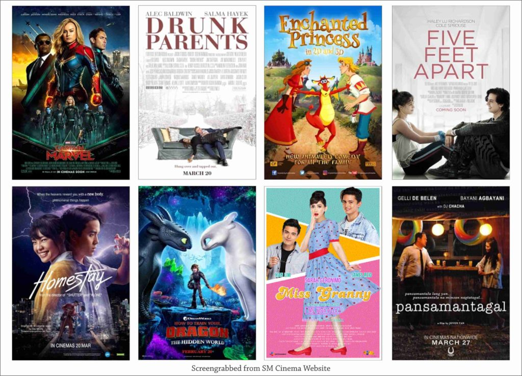 SM Cinema Showing Movies Today March 25, 2019