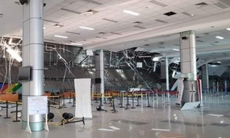 Clark International Airport damaged