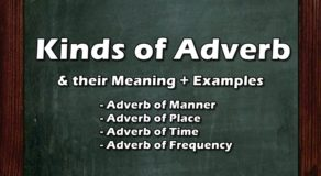 KINDS OF ADVERB: 4 Types of Adverb, Their Meaning & Examples