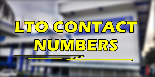 LTO CONTACT NUMBER: List of Contact Numbers of LTO Central Office